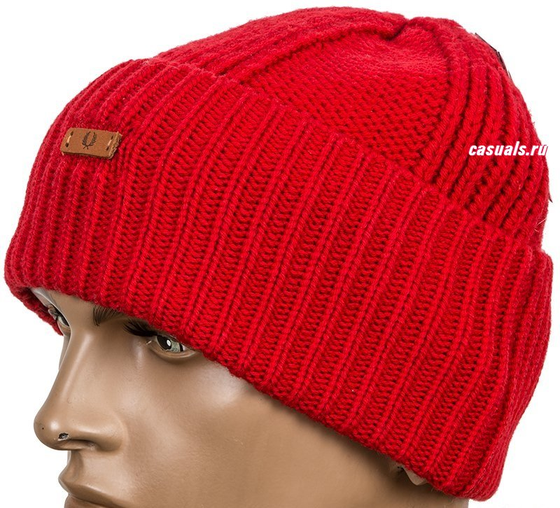 "Шапка Fred Perry ""Chunky Ribbed Beanie"""