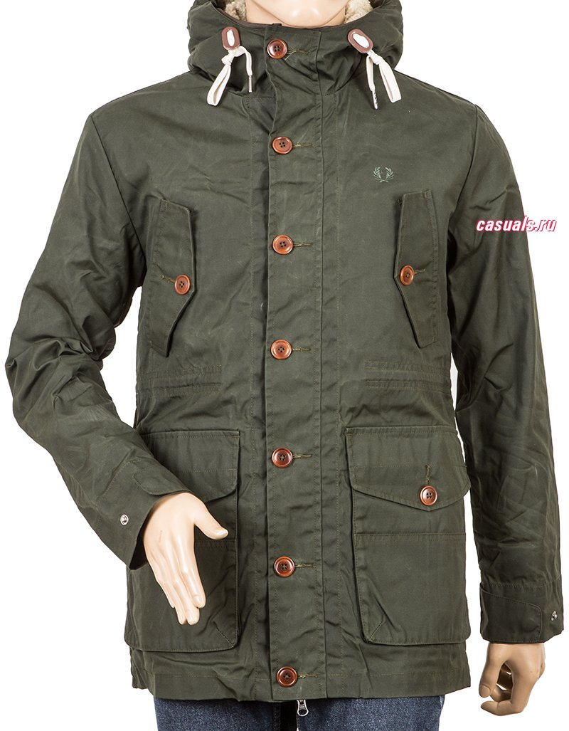 "Куртка Fred Perry ""Mountain Parka With Detach. Sherling"""