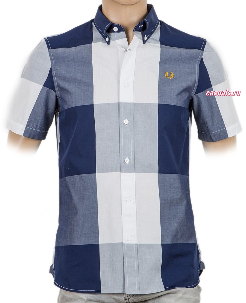 "Рубашка Fred Perry ""Magnified Gingham Shirt"""
