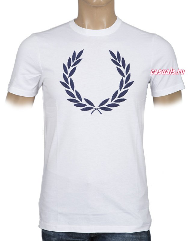 "Футболка Fred Perry ""Textured Laurel Wreath T-Shirt"""